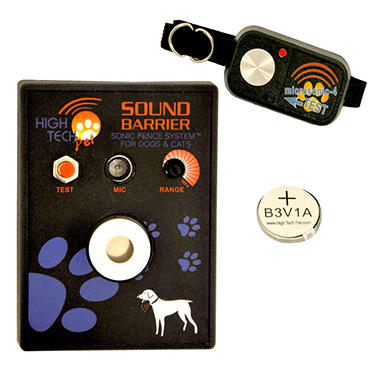 High Tech Pet - Sound Barrier Indoor Wireless Sonic Fence