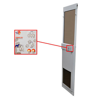 High Tech Pet - Power Pet Electric Patio Door - Large - Regular Height
