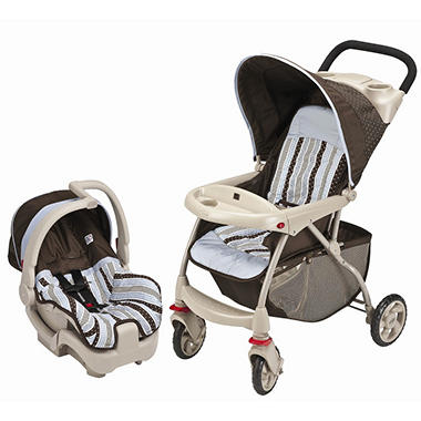 Evenflo Zing Discovery Travel System - Blue Georgia Stripe