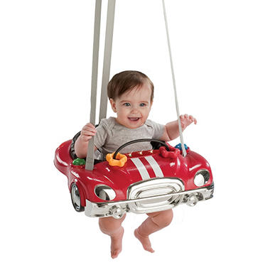 Evenflo jump go red racer sam 39 s club for Door bouncer age