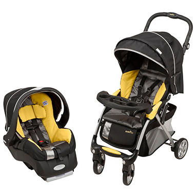 Evenflo Featherlite 400 Travel System - Tangerine