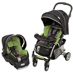 Evenflo Featherlite 400 Travel System - Aloe Green