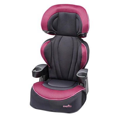Evenflo Big Kid LX High Back Booster, Berry Blast