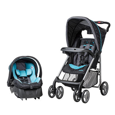 Evenflo JourneyLite Travel System with Embrace Infant Car Seat, Koi