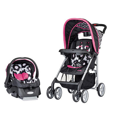 Evenflo JourneyLite Travel System with Embrace Infant Car Seat, Marinna