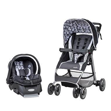 Evenflo Flexlite Travel System With Embrace Infant Car