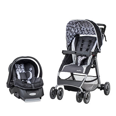 Evenflo Flexlite Travel System with Embrace Infant Car Seat, Raleigh