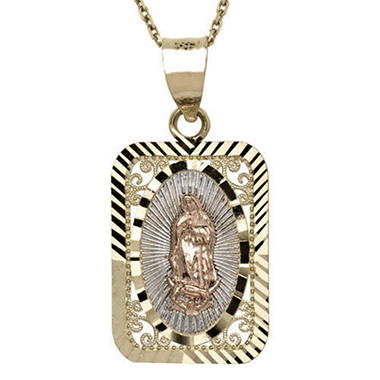 14K Gold Guadalupe Pendant