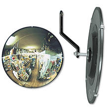See-All Round Glass Convex Mirror