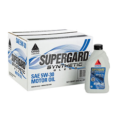 CITGO SuperGard 5W30 Motor Oil - 1 Quart Bottles - 12 pack