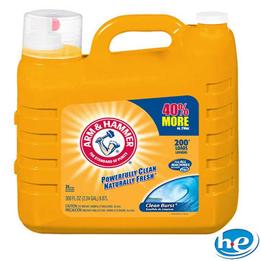 Arm & Hammer 200 Load Clean Burst Laundry Detergent - 300 oz.