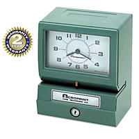 Acroprint - Model 150 Analog Automatic Print Time Clock with Month/Date/0-23 Hours/Minutes