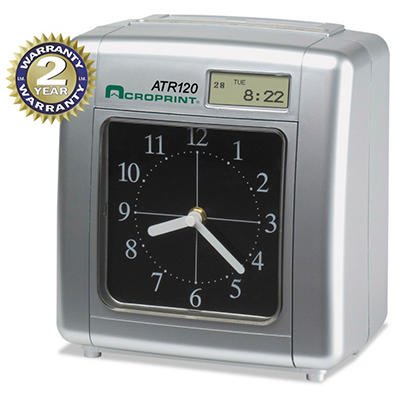 Acroprint Model ATR120 Time Clock for Weekly/Biweekly Pay Periods