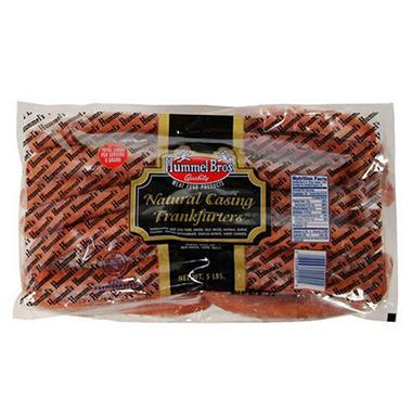 Hummel Bros. Natural Casing Frankfurters - 5 lbs.