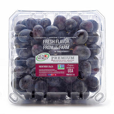Sam's Black Seedless Grapes - 3 lbs.