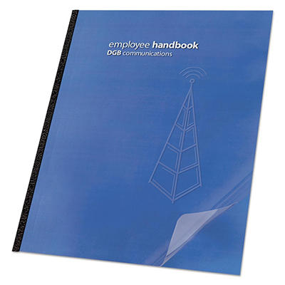 Swingline  GBC - Clear View Presentation Binding System Cover, 11-1/4 x 8-3/4, Clear -  100/Box