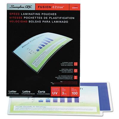 Swingline - HeatSeal LongLife Premium Laminating Pouches, 3 mil, 11 1/2 x 9 - 100 per Box