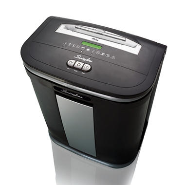Swingline SX16-08 Light-Duty Cross-Cut Shredder, Silver/Black