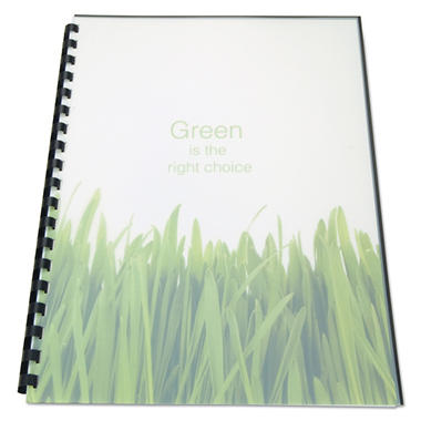Swingline GBC - 100% Recycled Poly Binding Cover, 11 x 8-1/2, Frost -  25/Pack