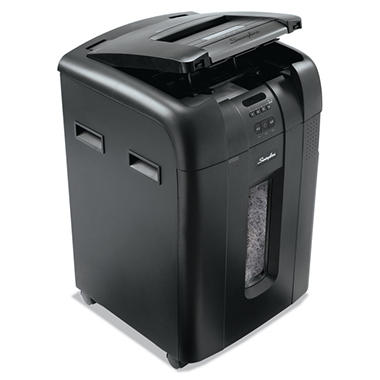 Swingline Stack-and-Shred 500X Heavy-Duty Cross-Cut Shredder, Black/Silver