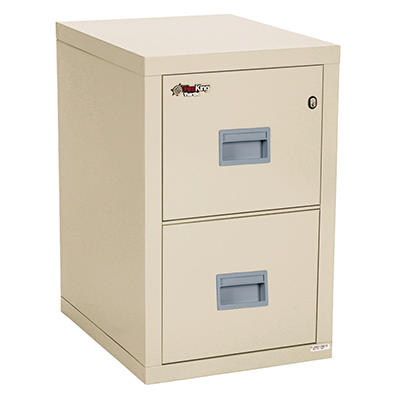 FireKing - Turtle Compact File Cabinet, 2 or 4 Drawer - Parchment