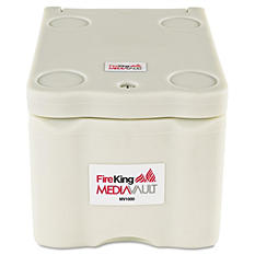 FireKing - MediaVault, 11-5/8w x 17-1/2d x 10-1/2h, White