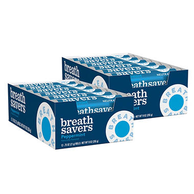 Breath Savers® Peppermint Mints - 12 piece pks. - 24 ct.