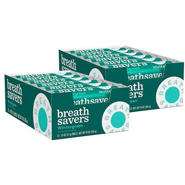 Breath Savers� Wintergreen Mints - 12 piece pks. - 24 ct.