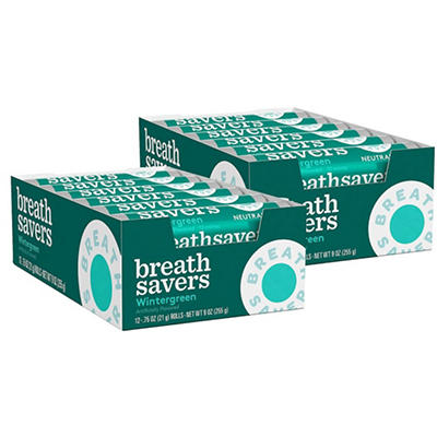 Breath Savers Wintergreen Mints - 12 piece pks. - 24 ct.