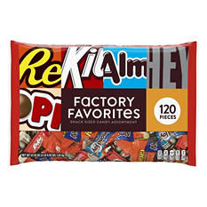 Hershey's Factory Favorites, Snack Size  (120 ct.)