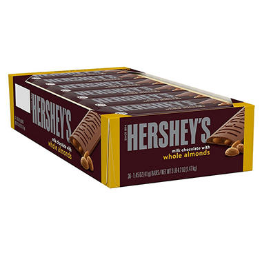 Hershey's Milk Chocolate With Almonds Bar (36 ct.)