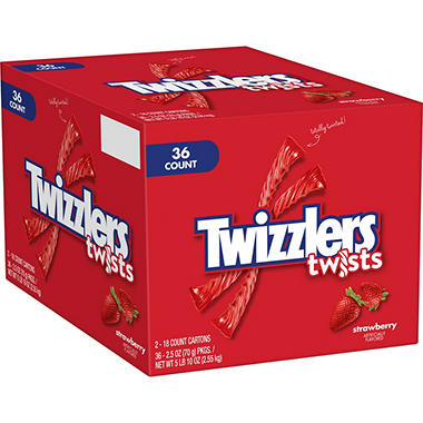 Twizzlers® Strawberry Twists - 36 Bars