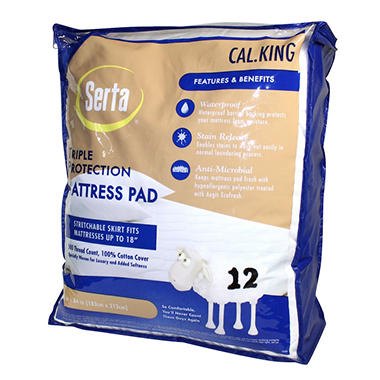 Serta Triple Protection Mattress Pad - California King