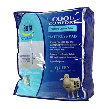 Serta Cool Comfort Mattress Pad - Queen