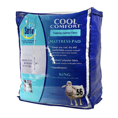 Serta Cool Comfort Mattress Pad - King