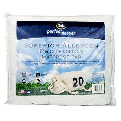 Serta Superior Allergen Protection Mattress Pad (Queen or King)