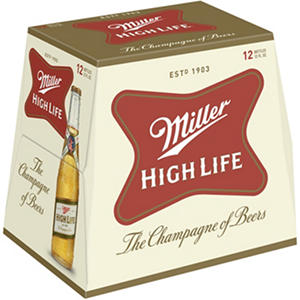 Miller High Life (12 oz. bottles, 12 pk.)