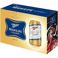 Miller High Life Light Beer - 24/12 oz.