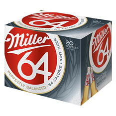 Miller® Genuine Draft 64 Light Beer - 20 / 12 oz.