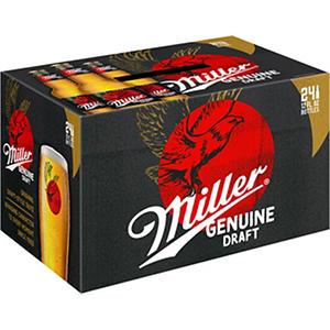 Miller Genuine Draft (12 fl. oz. bottles, 24 pk.)