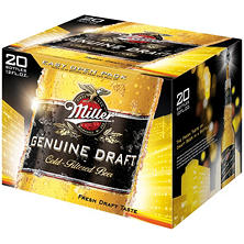 Miller Genuine Draft Beer (12 fl. oz. bottle, 20 pk.)