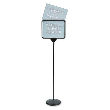 Quartet - Sign(ware) Pedestal Sign, 14 x 11 -  Black