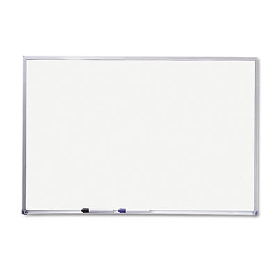 "Mead 72"" x 48"" Melamine Dry Erase Board, White with Aluminum Frame"