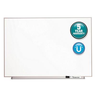 "Quartet - Magnetic Dry Erase Board Painted Steel - White/Aluminum - 34"" x 23"""