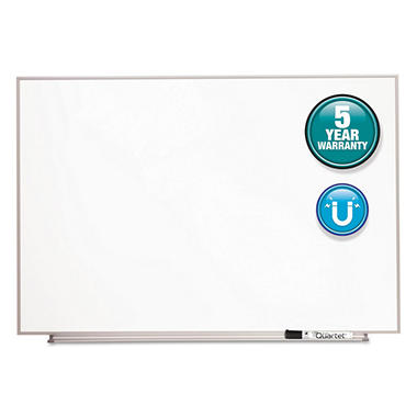"Quartet - Magnetic Dry Erase Board Painted Steel - White/Aluminum - 34"" x 23"""