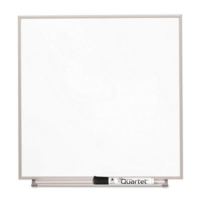 "Quartet - Magnetic Dry Erase Board Painted Steel - White/Aluminum - 48"" x 31"""