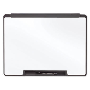 "Quartet 36"" x 24"" Motion Portable Dry Erase Board, White with Black Frame"