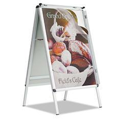Quartet - A-Frame Sign, Aluminum, 28 1/2 x 42 -  Silver