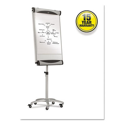 "Quartet - Premium Mobile Magnetic Dry Erase Easel - White - 27"" x 41"""