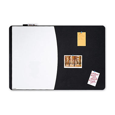 Quartet Tack & Write Combo Dry-Erase Board, Foam, 35 x 23 1/2, Black/White